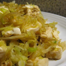 Easy Chinese Steamed Tofu and Cabbage