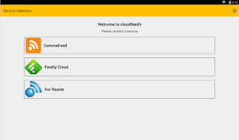 Screenshot of cloudfeedlr