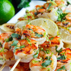 Cilantro Lime Grilled Shrimp