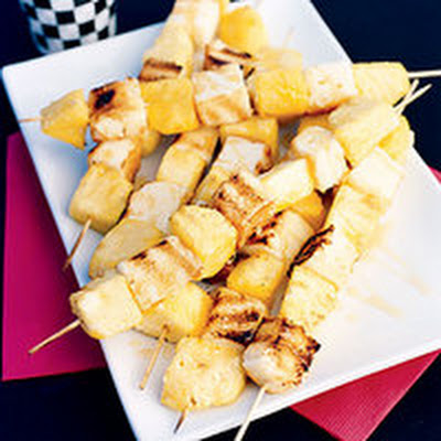 """Yellow Flag"" Dessert Skewers"