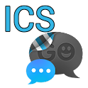GO SMS THEME - Smooth ICS Blue icon