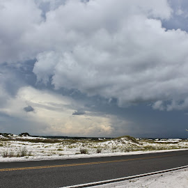 Emerald Coast  Storm Clouds by Brenda Hooper - Landscapes Weather ( emerald coast, florida, weather, storm clouds, landscape, coastal highway 98 )