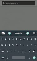 Screenshot of Android L Keyboard Theme