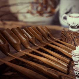 Mini Bamboo Tea Spoons by Max Bowen - Food & Drink Alcohol & Drinks