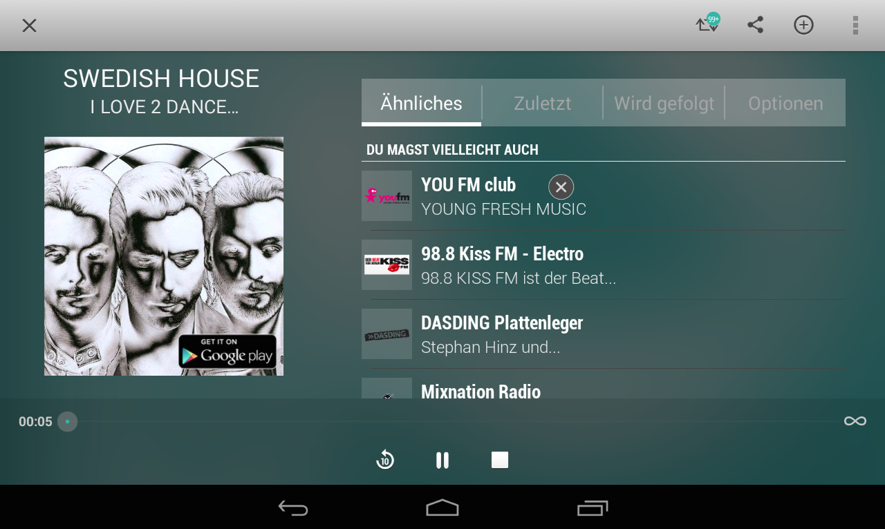tunein radio musik podcasts h rb cher android apps. Black Bedroom Furniture Sets. Home Design Ideas