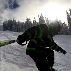 GoPro Spray Selfie by Eric Miramontes - Novices Only Sports ( selfie, ski, gopro, sports )