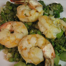 Lemony Sauteed Shrimp With Broccoli and Peas