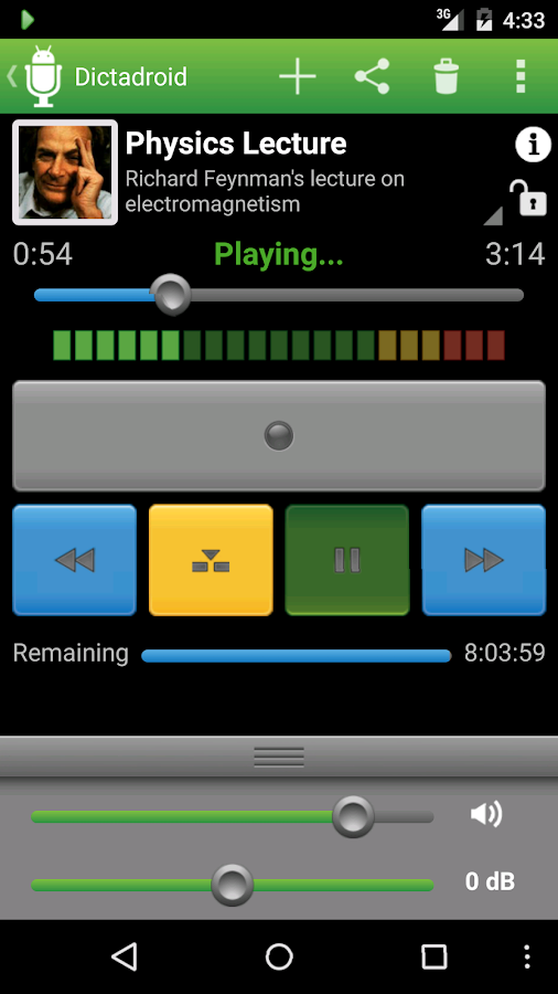 Dictadroid Voice Recorder Screenshot 2