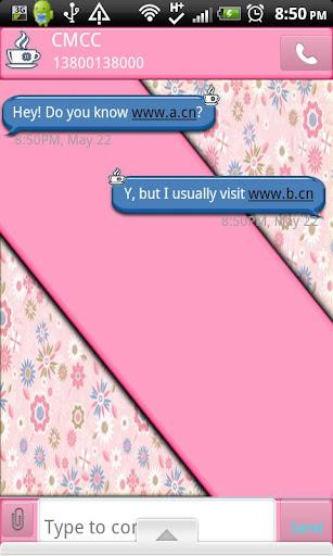 GO SMS THEME CoffeeBreak1