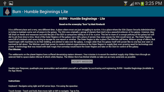 Burn - Humble Beginnings Lite - screenshot