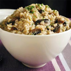 Barley Risotto with Caramelized Leeks and Mushrooms