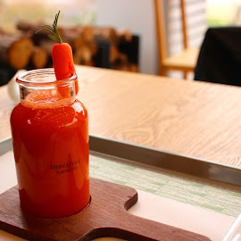 Carrot Juice Anyone? by Craig Sanden - Food & Drink Fruits & Vegetables ( beverage, carrot, juice, photography, south korea,  )
