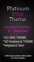Screenshot of GO SMS Pink Platinum Theme
