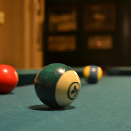 resting pool table  by Sarah Richardson - Sports & Fitness Cue sports