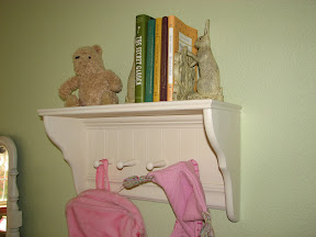 Shelf with Hanging Pegs