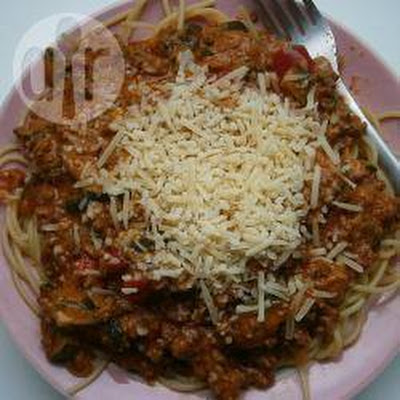 Romige pasta Bolognese