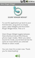 Screenshot of Silent Ringer Widget
