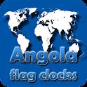 Angola flag clocks