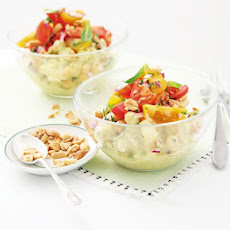 Chicken & Chickpea Salad With Curry Yogurt Dressing