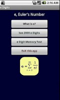 Screenshot of e Digits (Euler's Number)