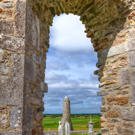 Through the Windmill by Ryan Moyer - Buildings & Architecture Other Exteriors ( ireland, europe, hdr, buildings, architecture, clonmacnoise, windmill )