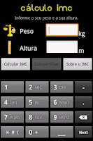 Screenshot of Cálculo IMC