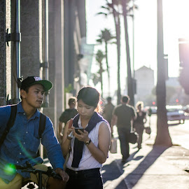 Outside Arclight by Angelo Perrino - People Couples