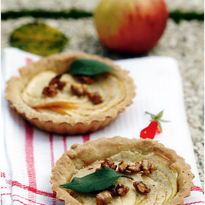 Apple Tartlets with Caramelized Walnuts