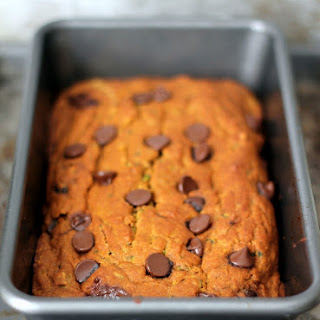Healthy Pumpkin Zucchini Chocolate Chip Bread