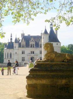 Château de Chenonceau-sphinx