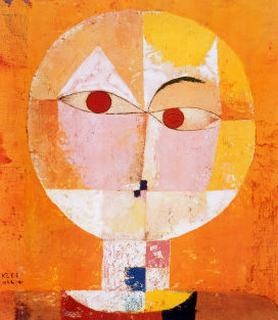 Paul Klee-Head Of A Man