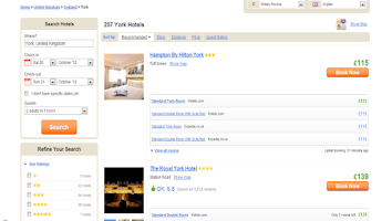 Screenshot of Cheap Hotels - Compare Hotels