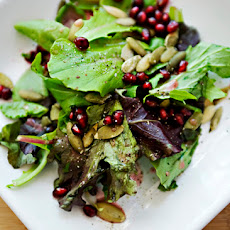 Mixed Greens with Pomegranate Lemon Dressing