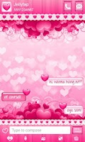 Screenshot of ♥Sweet Heart Theme Go SMS ♥