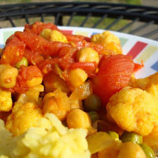 Curried Chick Peas and Mixed Vegetables
