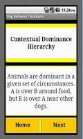 Screenshot of Dog Behavior Flashcards