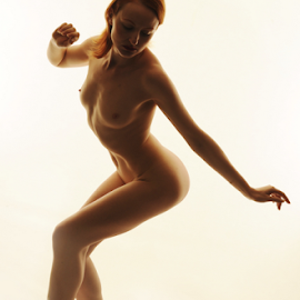 I love to dance by Vineet Johri - Nudes & Boudoir Artistic Nude ( high key, vkumar, anita de bauch, artistic nude, toe tips, curves )
