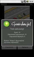Screenshot of Testy na Prawo Jazdy kat. B