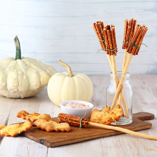 Spooky Bat Biscuits & Pretzel Broomsticks