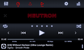 Screenshot of Neutron Music Player