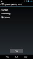 Screenshot of Spanish (Mexico) Basic Phrases