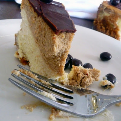 Coffee-and-Espresso Layered Cheesecake