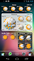 Screenshot of Widgets METEO