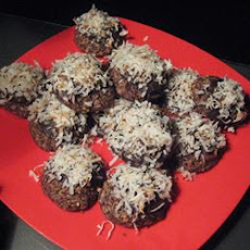 Chocolate-Dipped Coconut Snowballs