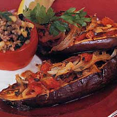 Braised Eggplant with Onion and Tomato