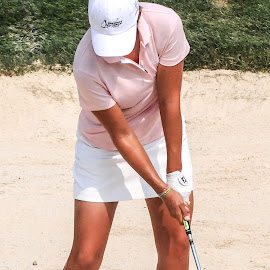 out of the sand by Lawrence Kelly - Sports & Fitness Golf ( 2010 lpga us open, 2010, golfers, us open, lady golfers, oakmont,  )