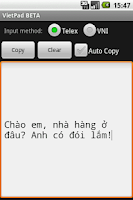 Screenshot of VietPad BETA