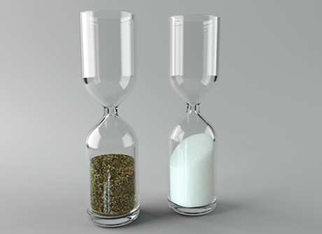 hour glass salt and pepper shakers