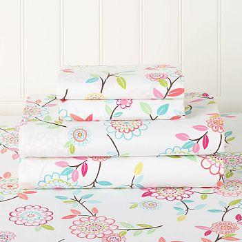 Floral Organic Sheet Set
