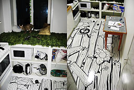 Doodling on the Kitchen Floor